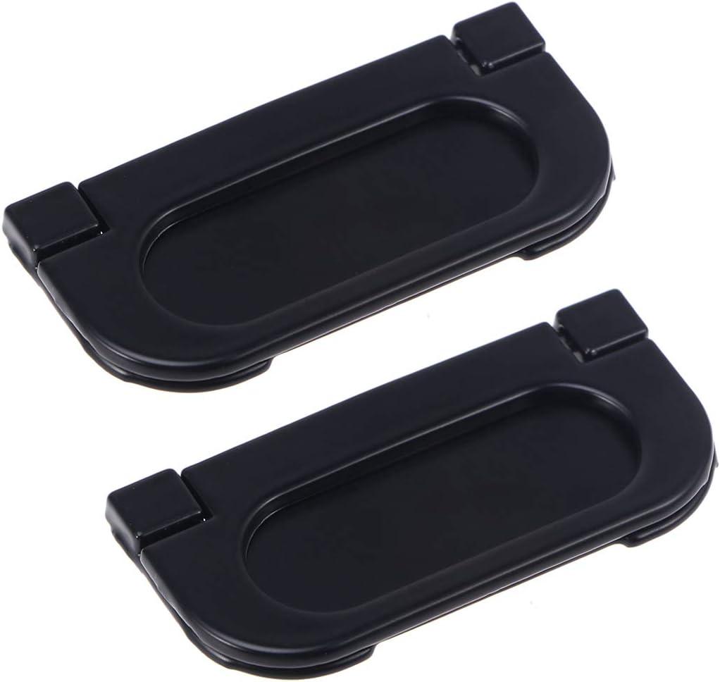 Tiradores del Tirador de la manija de la manija del Hardware del gabinete de la Puerta de los Agujeros s/ólidos s/ólidos Negros Planos para la Cocina casera