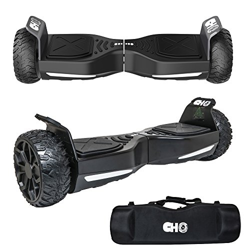 CHO[TM] All Terrain Rugged 6.5 Inch Wheels Hoverboard Off-Road Smart Self Balancing Electric Scooter With built-In Bluetooth Speaker LED Lights UL2272 Certified (All Terrain Scooter)