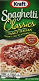 kraft boxed spaghetti - Kraft Tangy Italian Spag Dinner Kit 8 oz - 8 Unit Pack