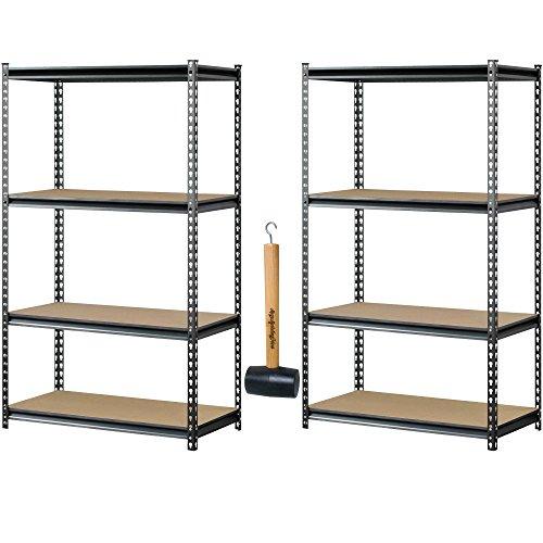 Review Muscle Rack UR361860PB4P-SV Silver Vein Steel Storage Rack, 4 Adjustable By Muscle Rack by Muscle Rack