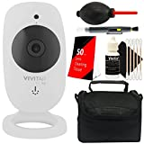 Vivitar VIV-IPC-113N IP CAM. 1.3MP W/110 Angle Night Vision + 50 Lens Tissue + Lens Pen + Dust Blower + Case + 3pc Cleaning Kit