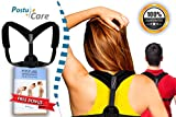Adjustable Posture Corrector Back Brace for Women & Men Clavicle Brace,Improve Thoracic Kyphosis, Shoulder Support, by Postu Care