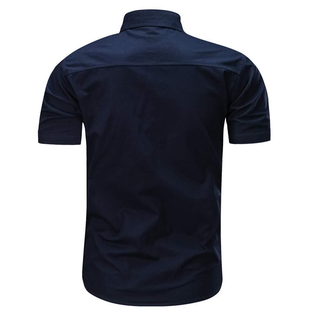 ZODOF Camisetas Hombre Manga Cortos Verano Moda Músculo Personalidad Casual Remera Slim Camisas de Deporte: Amazon.es: Ropa y accesorios