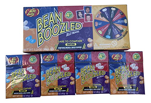 Jelly Belly BeanBoozled Spinner Game and 4 Refill Boxes 1.6 Ounces each - (Pack of 5) -