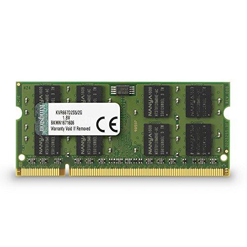 Kingston KVR667D2S5/2G Arbeitsspeicher 2GB (DDR2 Non-ECC CL5 SODIMM, 200-pin, 1.8V)