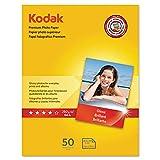 Kodak Glossy Premium Photo Paper, 8.5 x 11 Inches, 50 Sheets per Pack (8360513)