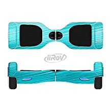 The Light Blue Slanted Streaks Full-Body Wrap Skin Kit for the iiRov HoverBoards and other Scooter (HOVERBOARD NOT INCLUDED)