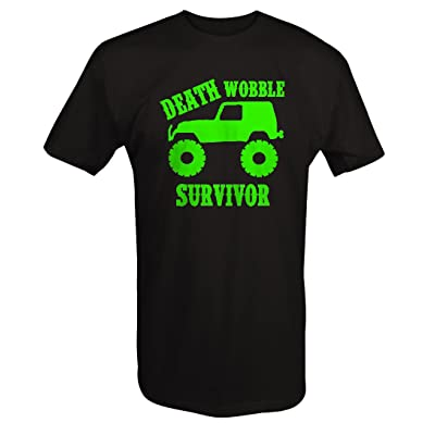 4x4 Death Wobble Survivor TJ JK T Shirt for Ment Shirt for Men | Amazon.com
