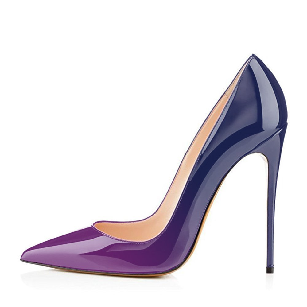 Chris-T Pumps Womens Formal Pointed Toe Pumps Chris-T Basic Shoes High Heel Stilettos Sexy Slip On Dress Shoes Size 4-15 US B07F338D3L 6 B(M) US|Purple&blue/Red S0le(bottom) 0006d0