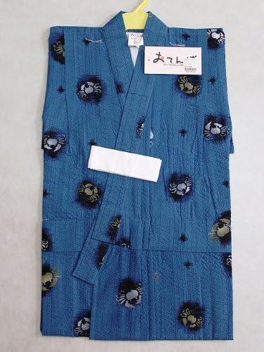男子浴衣 仕立上り男の子のゆかた 子供浴衣 90サイズ 紺色地のゆかた Y3563-05-90