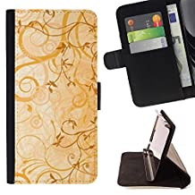 For Samsung Galaxy Note 4 IV,S-type cvety vetochki uzory ornamenty - Drawing PU Leather Wallet Style Pouch Protective Skin Case