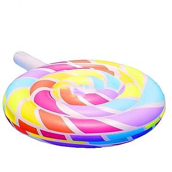 Amazon.com: SHARESUN Lollipop Cama flotante hinchable ...
