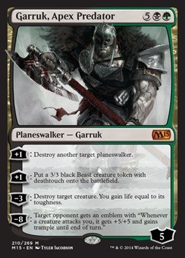 Magic: the Gathering - Garruk, Apex Predator (210/269) - Magic 2015 by Magic: the Gathering