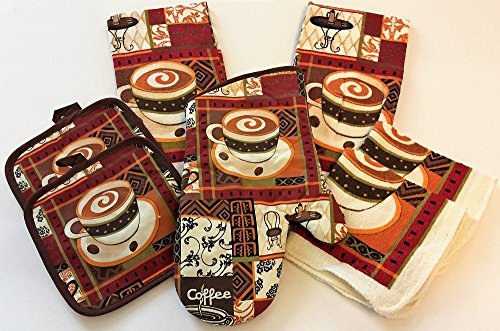 kitchen towel sets coffee - 7