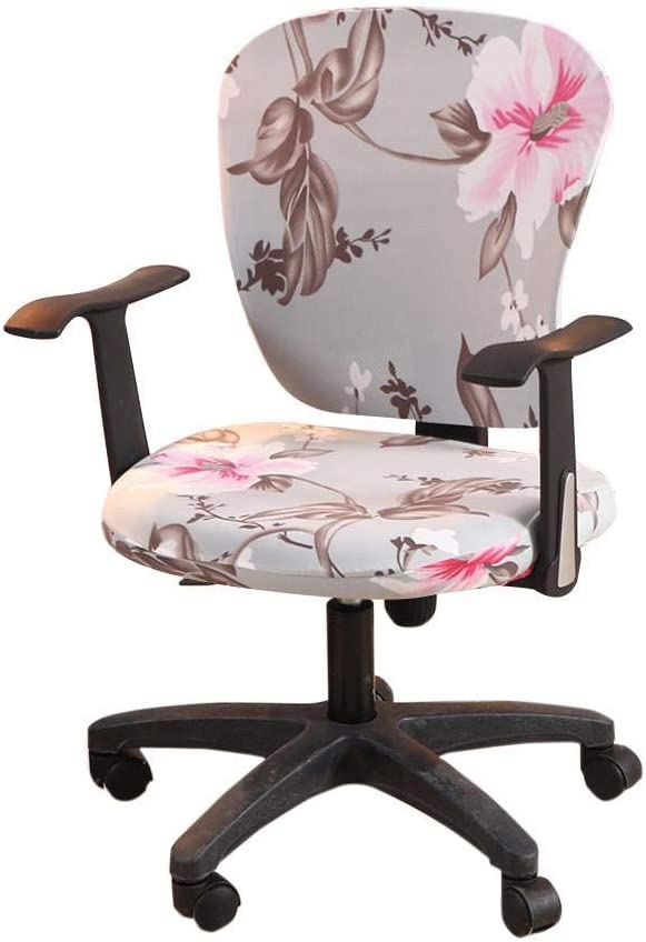 wonderfulwu Stretch Chair Covers Spandex Office Computer Chair Cover Removable Washable Rotate Swivel Chair Protective Covers