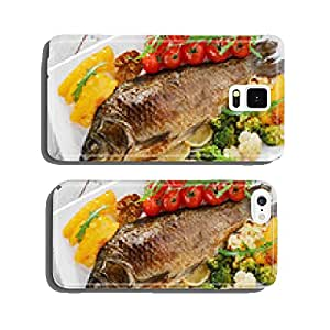 baked fish with vegetables carp cell phone cover case Samsung S5