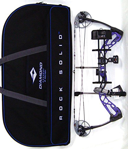 - Diamond Edge SB-1 Compound Bow, Purple Blaze, RAK Package, Right Hand, 7-70lbs, with Diamond Soft Bow Case
