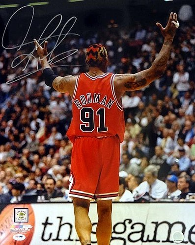 1e4ac2e96da Dennis Rodman Signed 16 x 20 Photo Chicago Bulls - PSA DNA ...