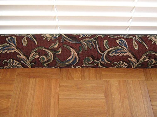 Door Draft Stopper Fabric Only Heavy Weight Upholstery Brown Blue Fabric Custom Made 24