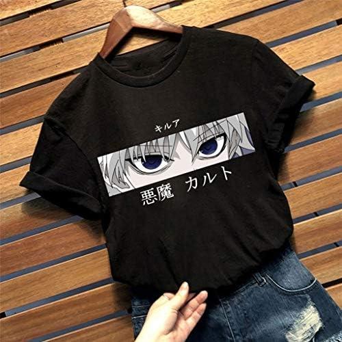 Hunter X Hunter Tshirt damski, nastoletnie dziewczyny Hunter X Hunter Killua Shirt kobiety nadruk 3D moda jesień krÓtki rękaw sportowe bluzki koszulka topy Merch: Odzież