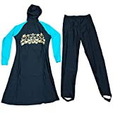 Muslim Womens Islamic Full Cover Swimwear, two piece Modest Beachwear /Burkini