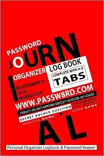 amazon password journal personal organizer logbook password