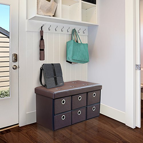 Bedroom Storage Bench With Drawers Bedroom Apartment Platform Bed Bedroom Ideas Bedroom Decorating Ideas Black And Grey: Sorbus Storage Ottoman Bench With Drawers