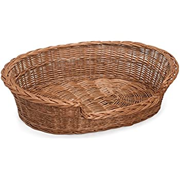 "Amazon.com : Prestige Wicker Dog Bed Basket, 33"" x 25"" x 8"