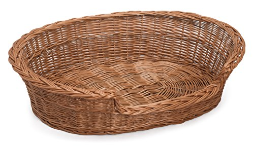 "Prestige Wicker Pet Bed Basket, 21"" x 15"" x 7"""
