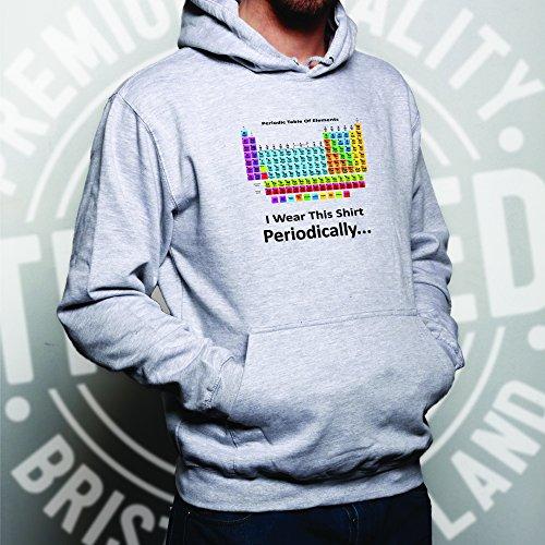 I Wear questo Periodicamente Tavola periodica Scienza Geeky Unisex Con Cappuccio