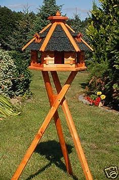 Vogelhaus von klein bis Riesig XXL Futterhaus Futterhäuschen Vogelvilla V18, Vogelfutterhaus aus Holz Deko-Shop-Hannusch