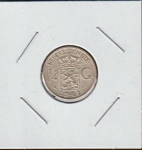 1941 NL Crowned Arms Divide Value Quarter Choice About Uncirculated Details