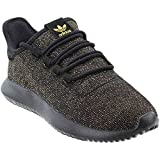 adidas Originals Kids' Tubular Shadow J Sneaker, Black/Back/Back/Gold Glitter, 5 M US Big Kid