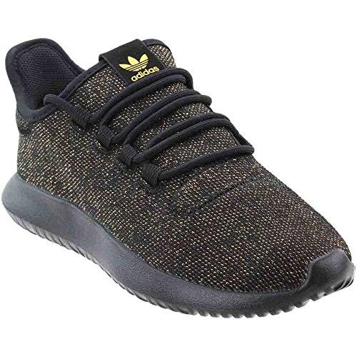 Adidas Originals Kids Tubular Shadow J Sneaker  Black Back Back Gold Glitter  5 M Us Big Kid