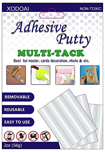 Adhesive Putty, XUDOAI Removable White Picture Poster Putty, Reusable Non-Toxic Multipurpose Mounting Sticky Tack -