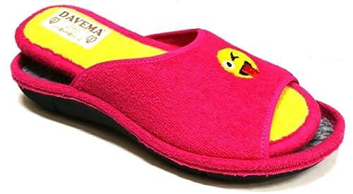 DAVEMA Pantofole Ciabatte estive da Donna Art. 6209 Spugna Fuxia con  Plantare Estraibile (38 af574cc6a63