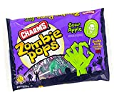 Halloween Charms Sour Apple Candy Zombie Pops, 9.1 oz