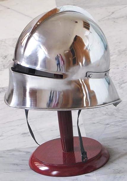 Medieval German Sallet Helmet - Gothic Close Helmet Re-enactment Costume  Spartan