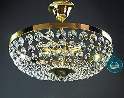 Kronleuchter Kristall 6 Flammig ~ Kronleuchter deckenleuchter Ø40cm 6 leuchten gefertigt aus spectra