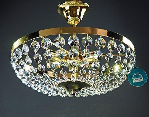 Plafoniere Con Gocce Di Cristallo : Lampadario cristallo e swarovski un di ag