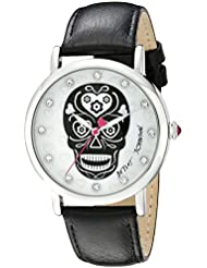 Betsey Johnson Womens BJ00515-01 Analog Display Quartz Black Watch