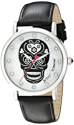 Betsey Johnson Women's BJ00515-01 Analog Display Quartz Black Watch