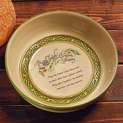 Abbey Press ''Irish Christmas Blessing'' Soda Bread Baker - Christian Home Kitchen Gift 55002T-ABBEY