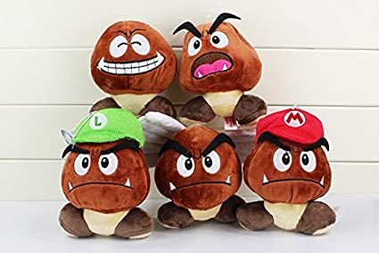 1c85791d0b4 Amazon.com  Super Mario Bros Plush Toy Soft Doll Goomba With Mario ...