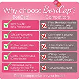 BoriCap Boric Acid Vaginal Suppositories | Capsules Size 00 | No Fillers, Flow Agents or Artificial Colors | Gynecologist Instructions Included | Made in The USA