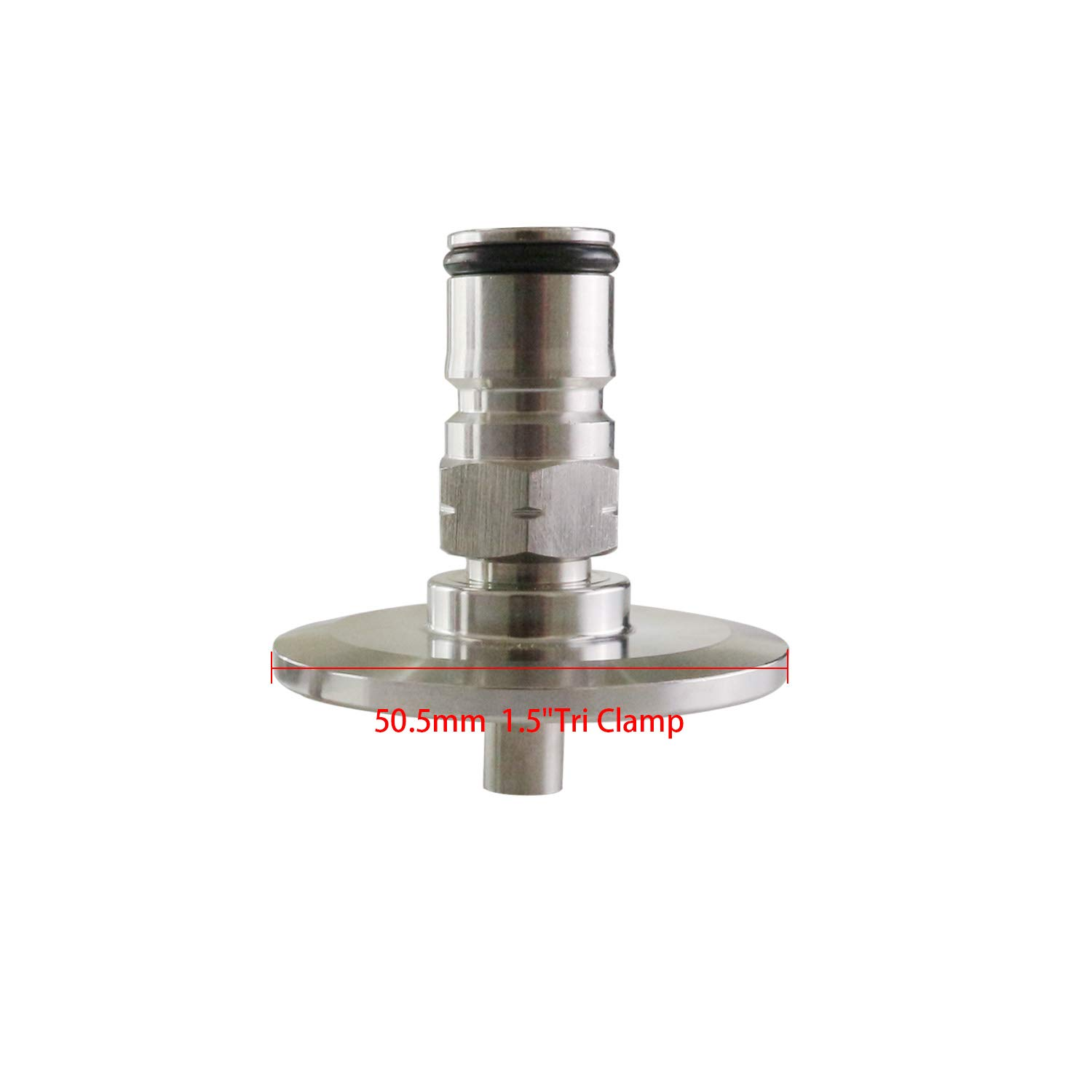 1.5''Tri Clamp to Ball Lock Post, SS304 Sanitary Brewer Fitting, 50.5mm OD ferrule for SS conical fermenter pressure transfer (Gas) by CRBrewBeer