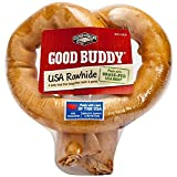 Good Buddy 2 Count USA Rawhide Pretzel Treat for Pets, 6-Inch For Sale