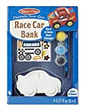 Melissa & Doug Decorate-Your-Own Wooden Race Car Bank Craft Kit