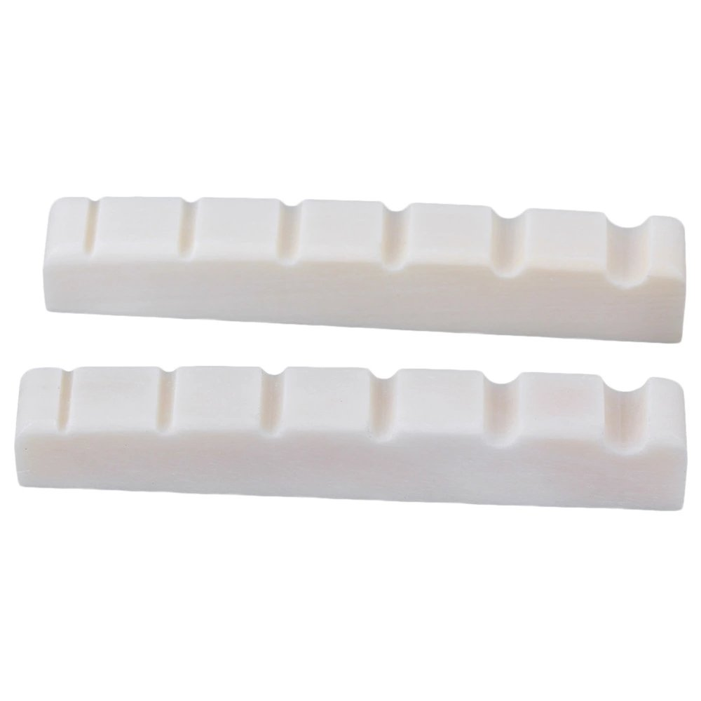 2x52mm Cattle Bone White 6 String Bass Guitar Nuts for Guitar Maker SYLIFE