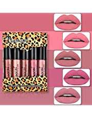 sfdeggtb 5Pcs Rose Mist Lipstick Set Easy to Color Long Lasting Matte Lipstick Beauty Makeup, Perfect for Party, Casual Life, Wedding Makeup